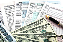 Tax Forms and Calculator with Money